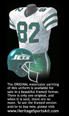 New York Jets 1990 uniform