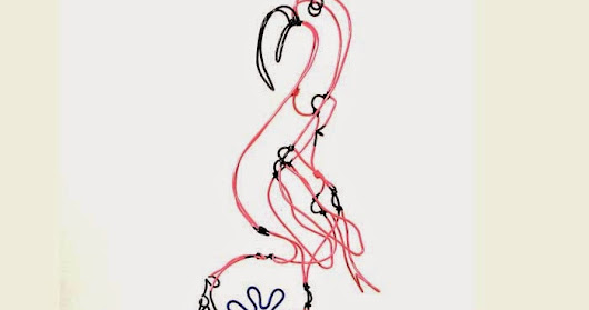 Flamingo with Flower