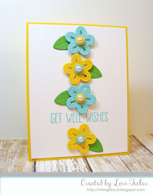 Get Well Wishes card-designed by Lori Tecler/Inking Aloud-stamps and dies from Lil' Inker Designs