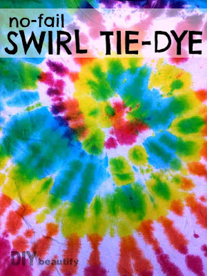 Tie Dye Swirl Technique | DIY beautify