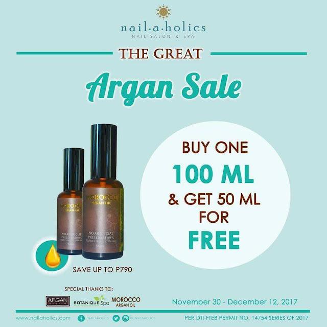 All-Around Pinay Mama, Nailaholics Argan Oil, Great Argan Sale Year 2