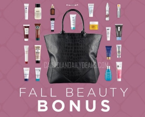 BeauyBoutique Free Fall Beauty Bonus Tote + Samples