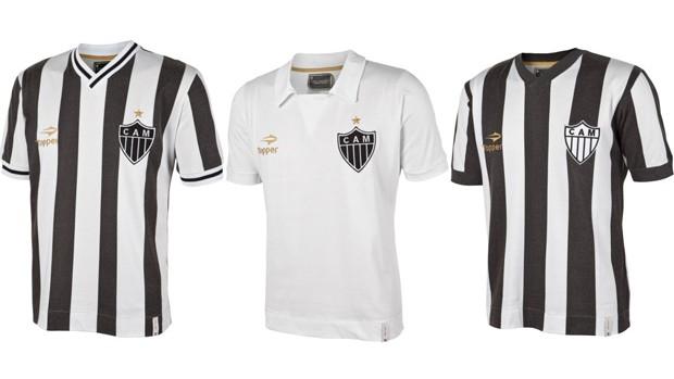 """be627d0959 Atlético-MG lança três camisas retrô de momentos marcantes do clube. Camisas  são referentes aos títulos de """"Campeão do Gelo"""" e dos estaduais de 1981 e  1982."""
