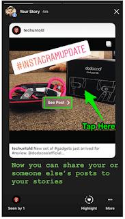 Begini Cara Berbagi Posting Di Instagram Stories