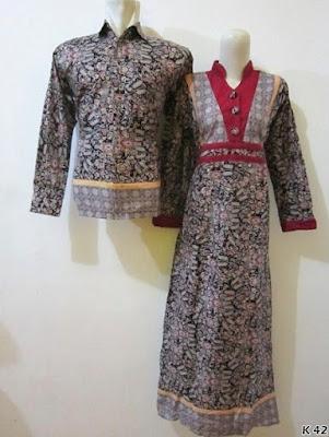 baju couple batik lengan panjang muslim pria