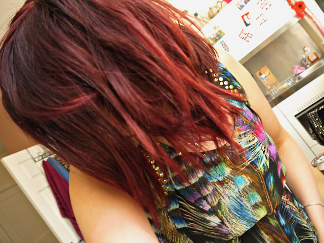 What my hair looks like after using the Colour On 'Red Hot' Hair Toner