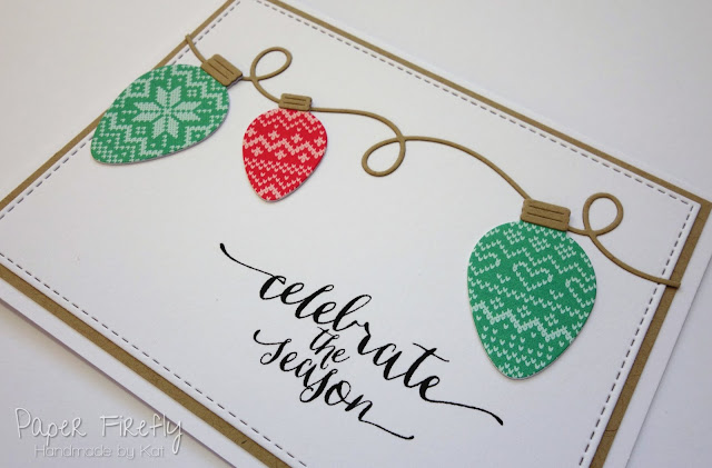 String of lights Christmas card