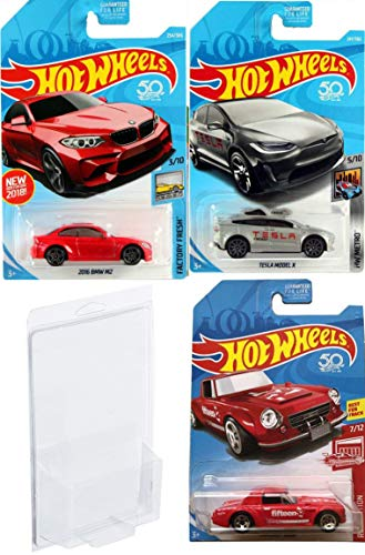 3 Pack Hot Wheels Tesla Model X Metro Car Bundled With 2016 Bmw M2 Die Cast Red Fairlady 2000 Exclusive Edition In Protective Cases 3 Items 2019 Hot Wheels