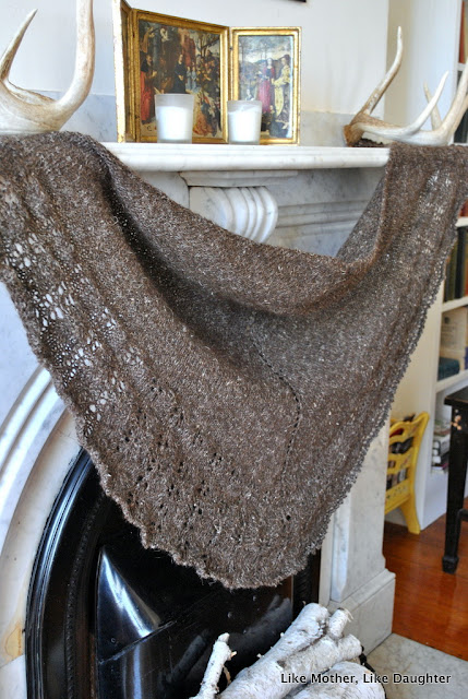 Making a shawl, thinking about things. ~ Like Mother Like