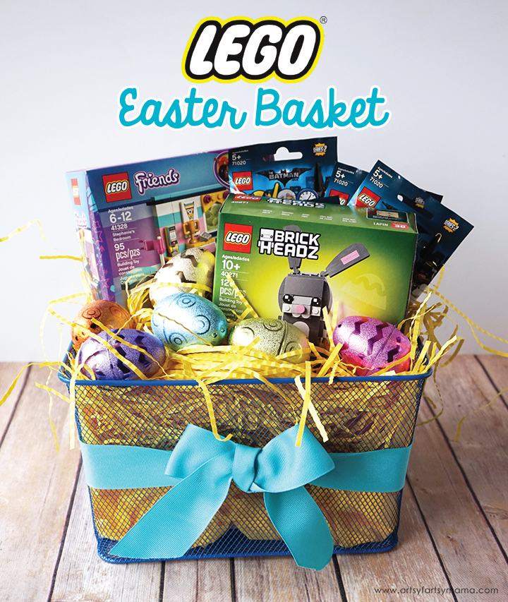Lego easter basket artsy fartsy mama surprise a lego fan with a unique lego easter basket negle Choice Image
