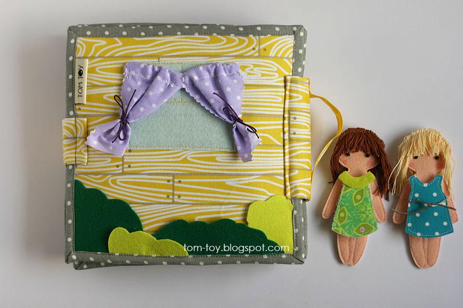 Cora's dollhouse, travel dollhouse, quiet busy book for girls, развивающая книжка, кукольный домик