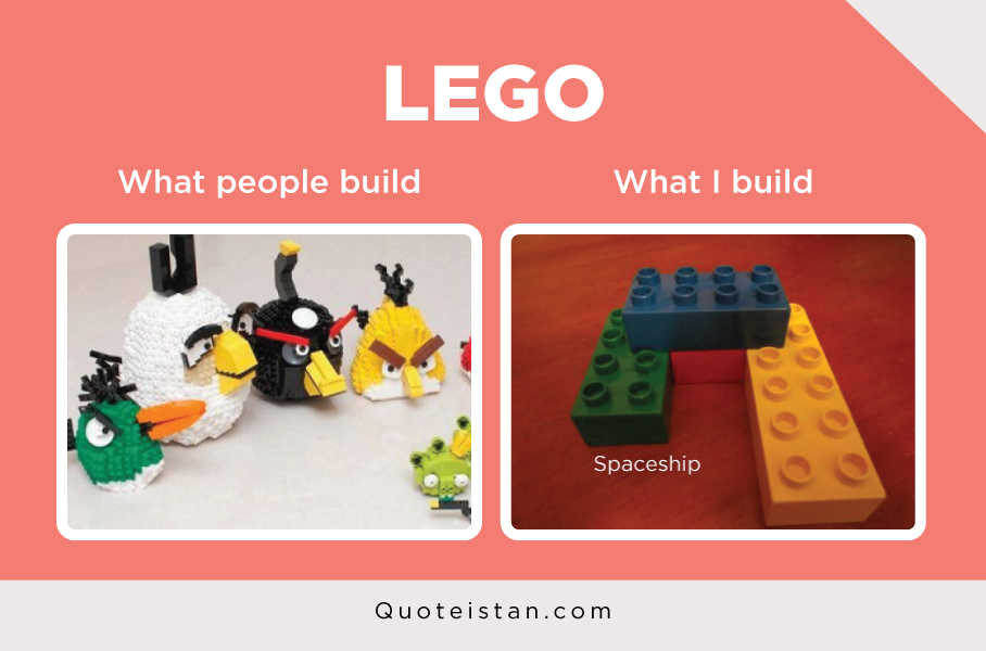 LEGO: What people build vs What I build