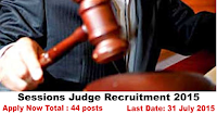 Office of the District & Sessions Judge Recruitment 2015