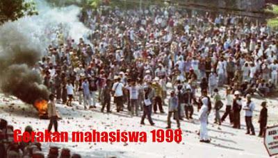 Foto Gerakan mahasiswa 1998