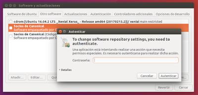 Software y actualizaciones modificar