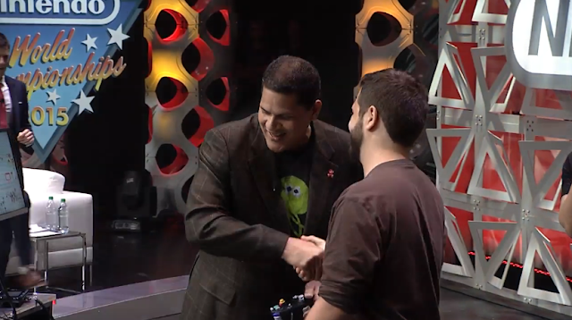 Reggie Hungrybox handshake Nintendo World Championships