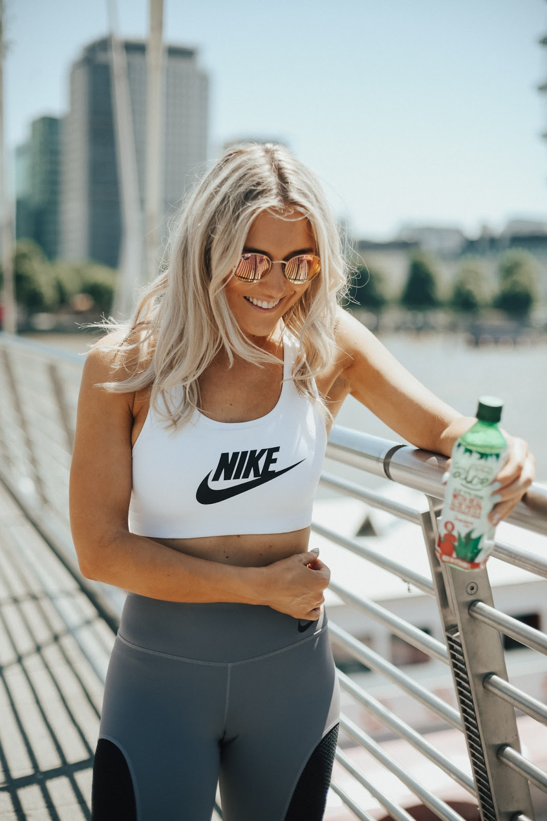 nike white gym top