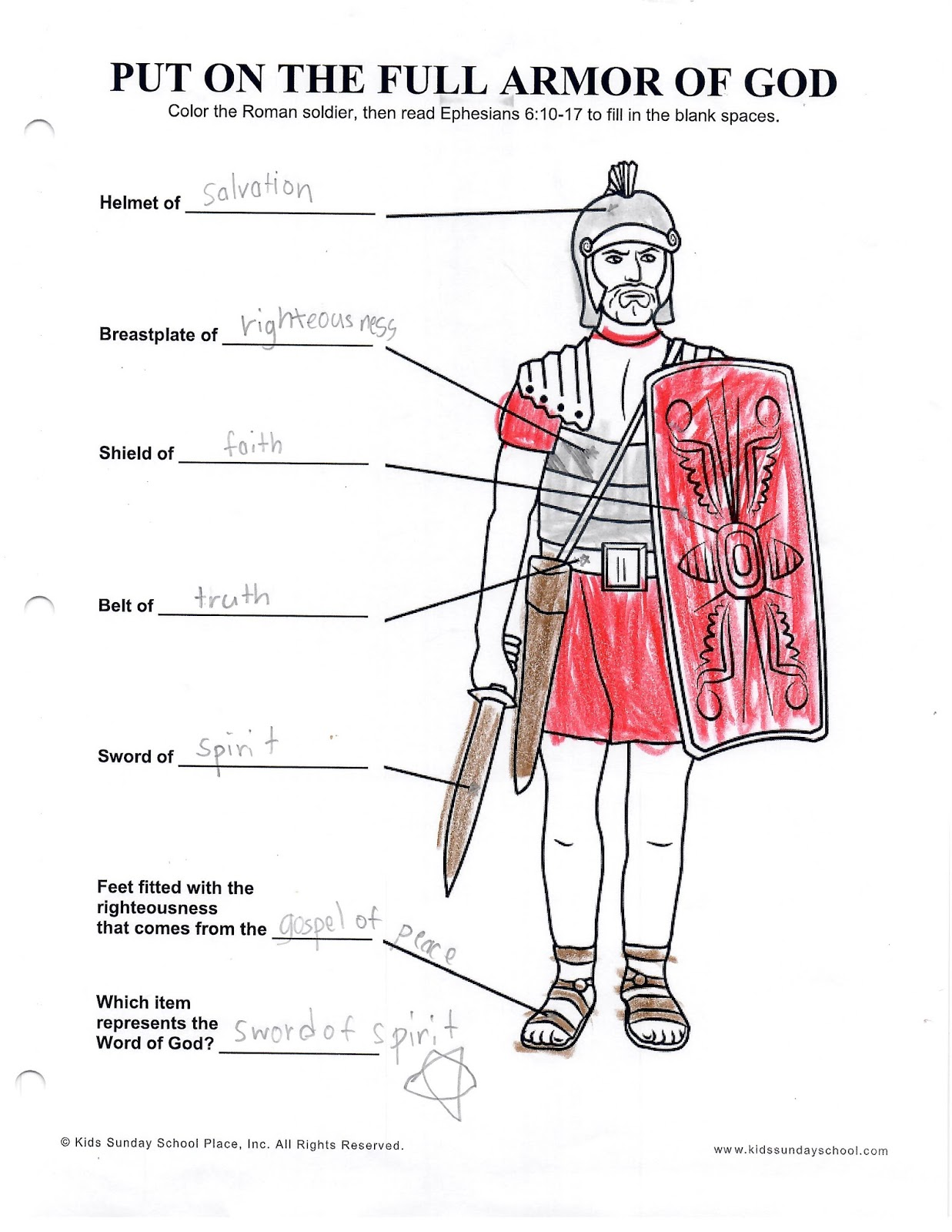 Worksheet Roman Army