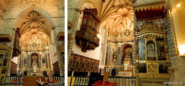 Altares da Igreja de São Francisco, Évora, Portugal