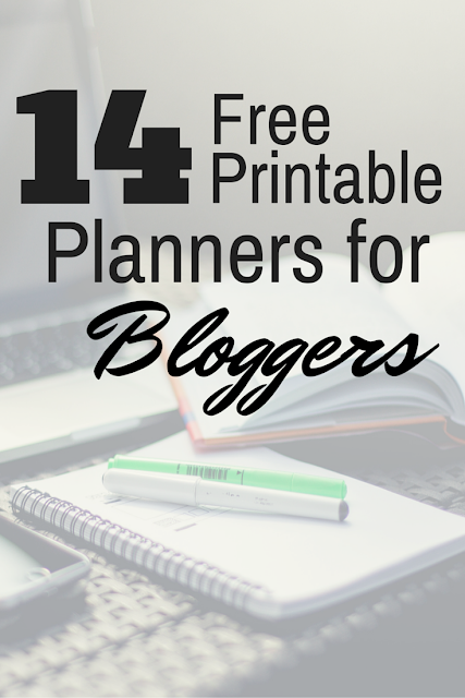 printable planners for bloggers roundup