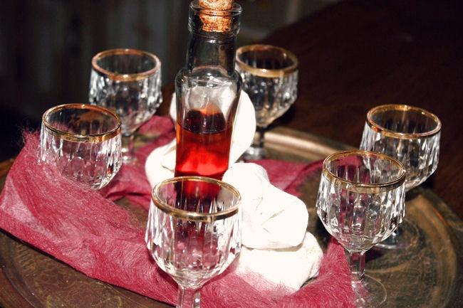 Pyrgos Mantania welcome drink