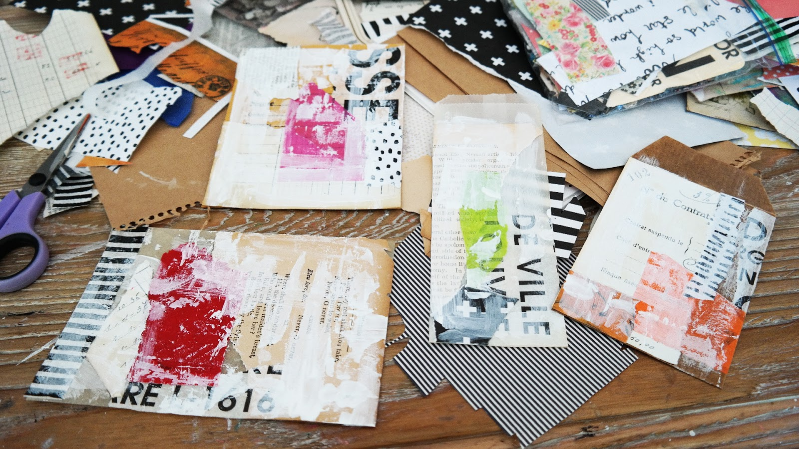 Artful Play: Whimsical Collages Using Tim Holtz Paper Dolls