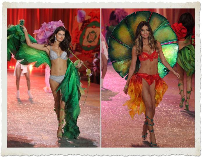 Isabeli Fontana e  Lily Aldridge nella sfilata in lingerie al Victoria's Secret Fashion Show 2012