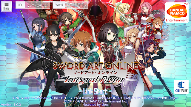 Sword Art Online Integral Factor Rilis!