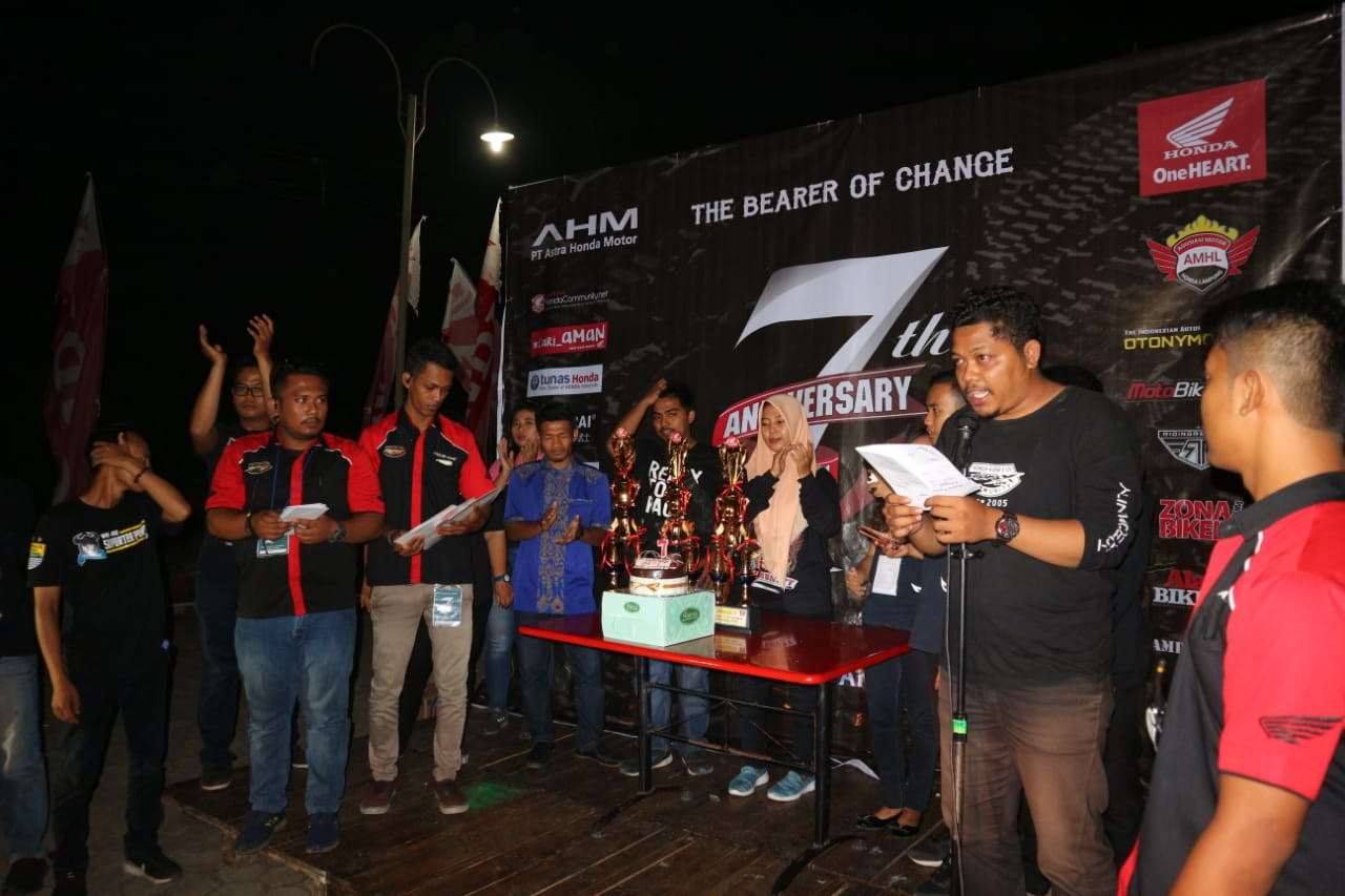 Ulang Tahun Honda Supra X 125 Community Bandar Lampung Gelar Kompetisi Futsal
