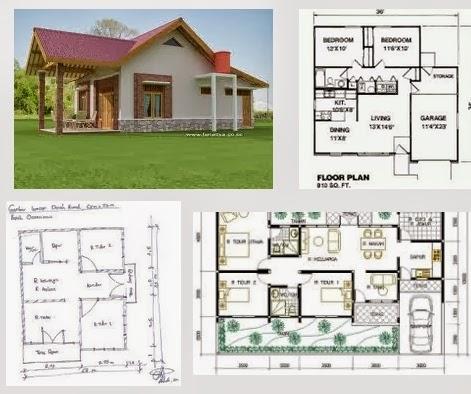 contoh rumah  minimalis  dan denah