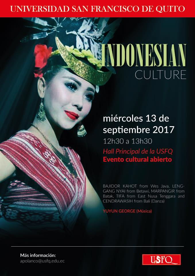 La USFQ te invita a disfrutar de un encuentro con la Cultura de Indonesia