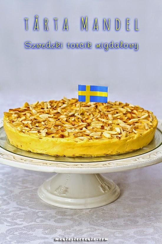 Tårta Mandel - szwedzki torcik migdaowy