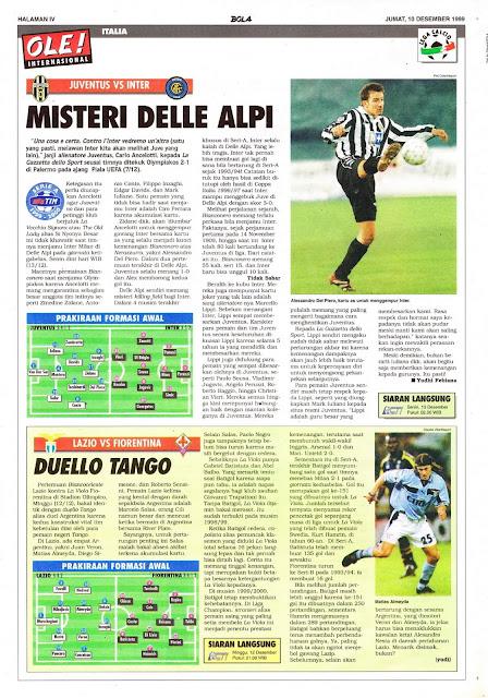 ALESSANDRO DEL PIERO JUVENTUS VS INTER MILAN DELLE ALPI