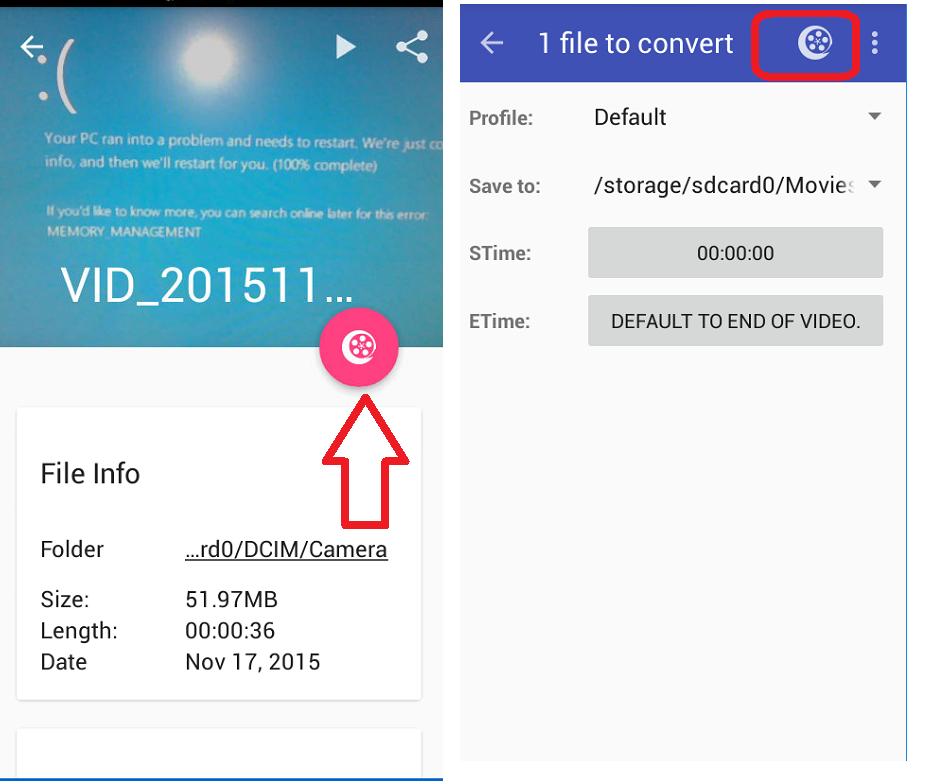 Photo size converter app