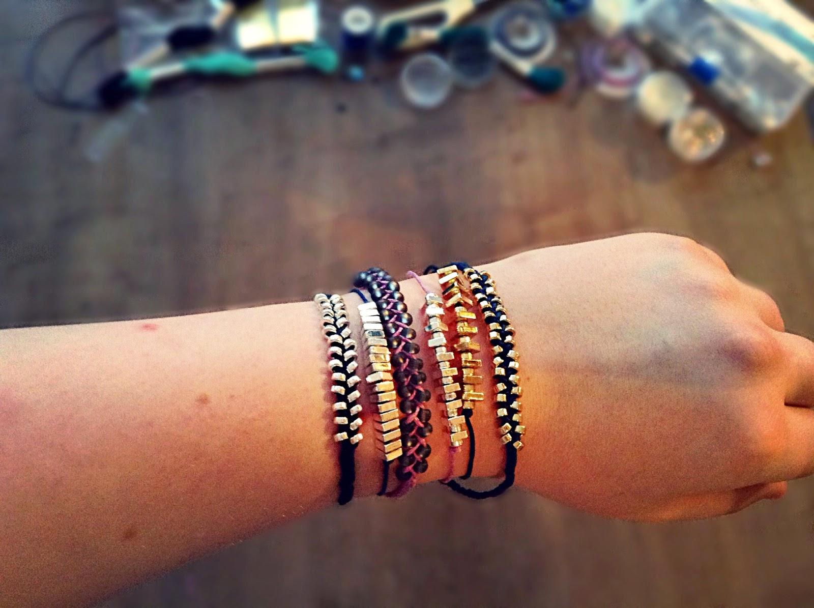 DIY Pearl Bracelets