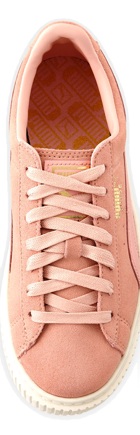 Puma Suede Platform Lace-Up Sneaker, Pink