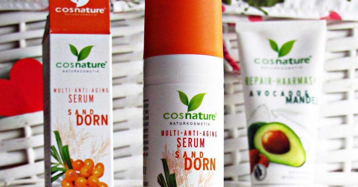 Cosnature Naturkosmetik-  przeciwzmarszczkowe, multiwitaminowe serum do twarzy z rokitnikiem