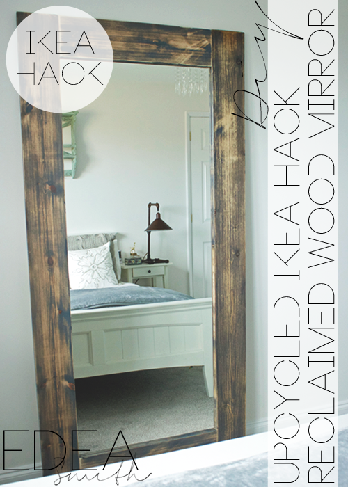 DIY UPCYCLED IKEA HACK MIRROR FRAME [with plans