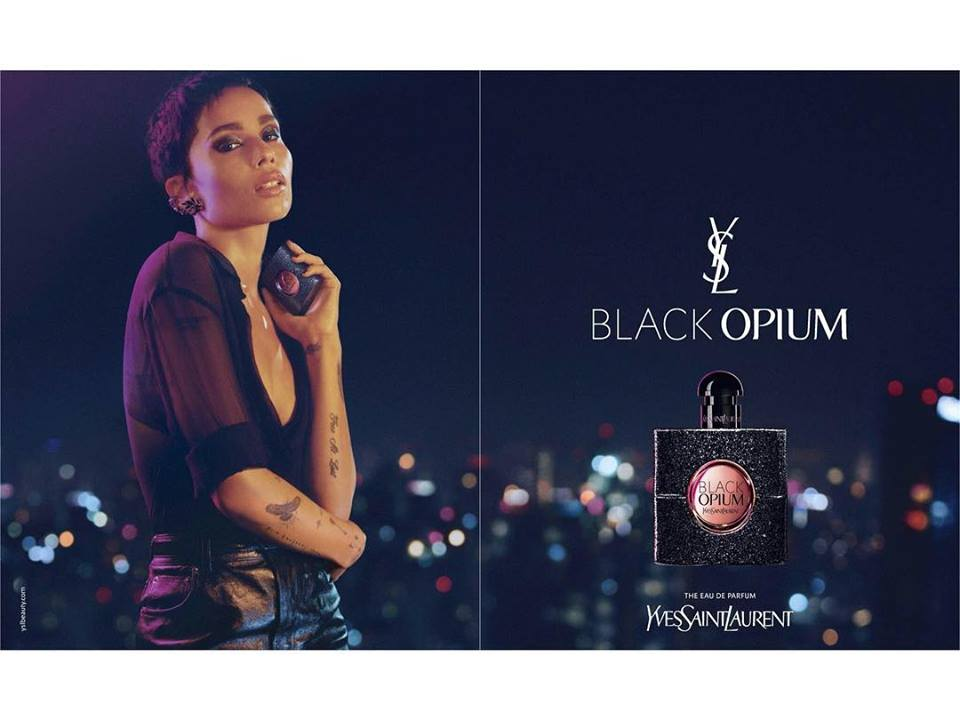 bc7249da9b6 YSL Black Opium 2018 Campaign featuring Zoe Kravitz