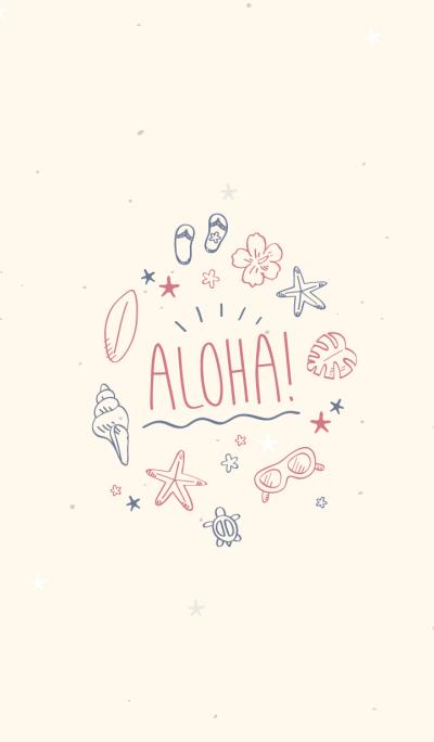 Hawaiian Aloha (ivory)