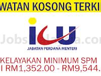 Jabatan Perdana Menteri - Gaji RM1,352 - RM9,544