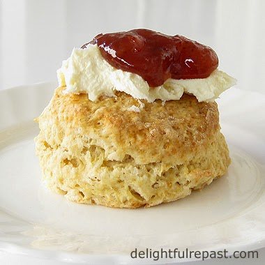 Scone with Clotted Cream and Jam / www.delightfulrepast.com