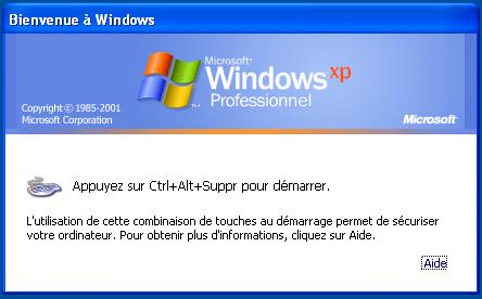 Activer ou désactiver Ctrl+Alt+Supp au démarrage de windows 10