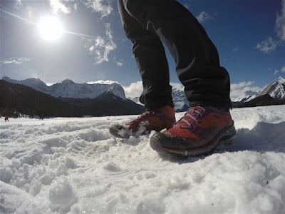 KEEN Terradora Hiking Boots at Upper Kananaskis Lake