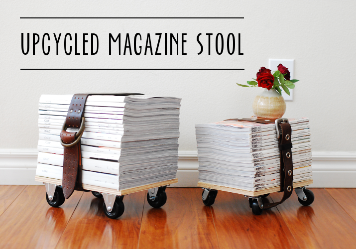 whimzeecal diy friday upcycled magazine stool tutorial. Black Bedroom Furniture Sets. Home Design Ideas
