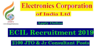 ECIL Recruitment 2018-19 - Apply Online for 2100 Junior Technical Officer Post