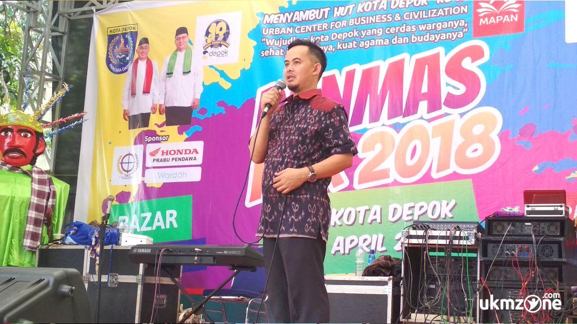 Penutupan acara Panmas Fair 2018 oleh camat Pancoran Mas Depok