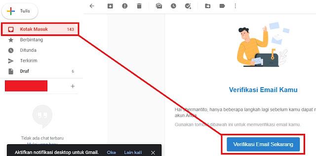 gambar cara verifikasi email kartu pra kerja