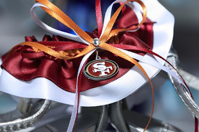 San Francisco 49ers Wedding Garter by Sugarplum Garters