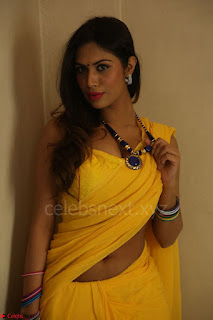Nishigandha in Yellow backless Strapless Choli and Half Saree Spicy Pics 129.JPG